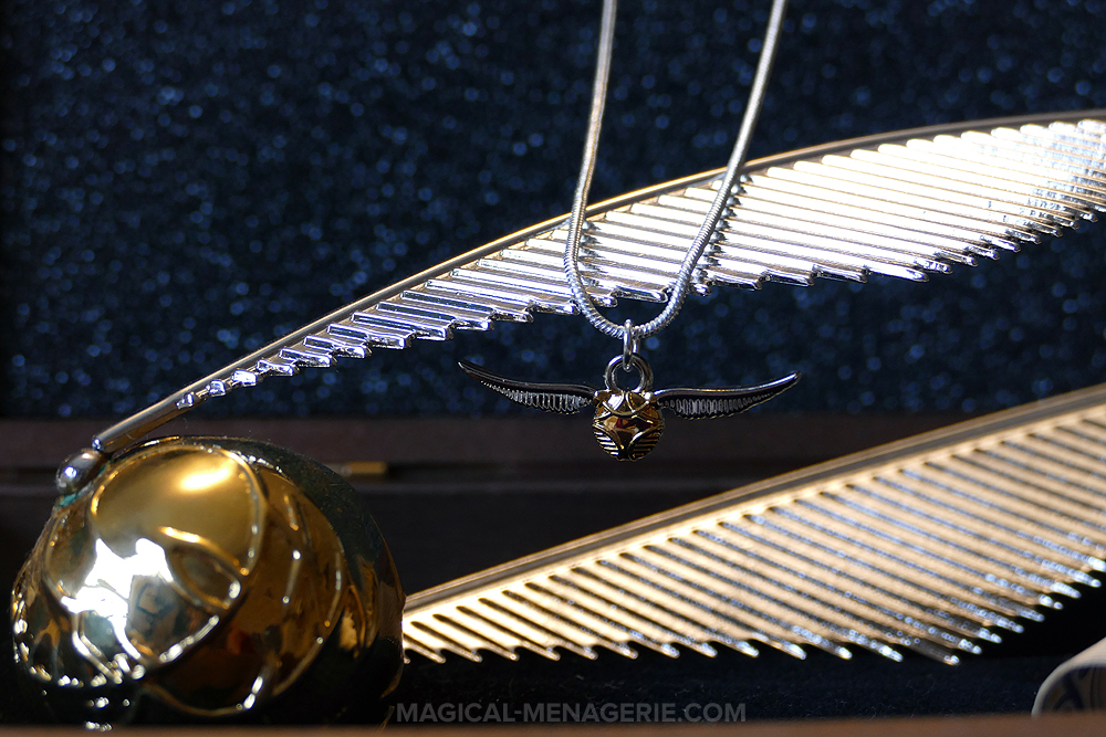 Magic Alley Harry Potter Golden Snitch Necklace